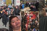 Pohřeb Věry Bílé (†64): Otevřená rakev, naříkání a davy truchlících! FOTO+VIDEO