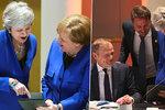 Co dámy pobavilo? Mayová se mohla potrhat smíchy nad fotkami, které jí ukázala Merkelová