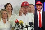 """Babišova kampaň: Červenou čepici dal i Soukupovi. """"Okopčil jsem to od Trumpa"""""""