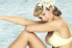 Modely na pláž v šedesátých letech.