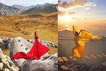 Cestuje po celém světě a fotí se v krásných šatech. Její Instagram sleduje téměř sto tisíc lidí!