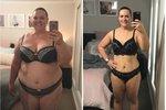 Jessica začínala hubnout na váze 141 kilogramů.
