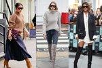 Jak nosí slavné ženy kozačky?