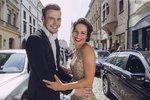Veronika Khek Kubařová s tanečním partnerem Dominikem Vodičkou.