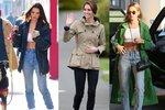 Jaká kombinace tenisek a džín je oblíbená u slavných žen?