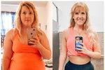 Šestadvacetiletá Elizabeth Sanders je po zhubnutí padesáti kilogramů k nepoznání.