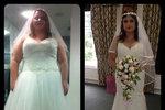 Alex Hill z Manchesteru zhubla do svatby přes šedesát kilogramů.