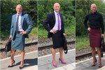 Strojní inženýr ukazuje, že sukně a podpatky nejsou pouze pro ženy! Chodí v nich každý den do práce.