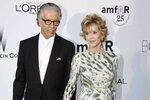 Jane Fonda se svým přítelem, americkým hudebním producentem Richardem Perrym.