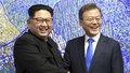 Historický summit: U jednoho stolu se v Jižní Koreji setkal tamní prezident s vůdcem KLDR Kim Čong-unem.