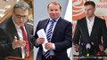Rošáda uvnitř ČSSD? Jiří Zimola (vpravo) zmínil, že by post ministra zahraničí mohl ve vládě místo Miroslava Pocheho (uprostřed) zastat Lubomír Zaorálek (vlevo). Ten to ale odmítl