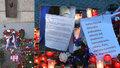 Aktivisté připojili k prezidentově a premiérově kytici kritický vzkaz