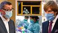 Koronavirus se šíří v Česku i ve světě. Na snímku premiér Andrej Babiš (ANO, vlevo) a ministr zdravotnictví Adam Vojtěch (za ANO).