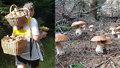 Mike Koukal si na houby vyrobil originální nosítko.