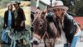 Nikola Čechová při natáčení videoklipu ve westernovém městečku prý vypadala jako doktorka Quinnová.