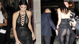 Kendall Jenner ukázala všechno: Průhledná róba odhalila její krásný zadek i poprsí