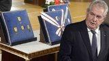 Státní vyznamenání dostane Ludvík Hess a fotbalista Nedvěd, prozradil prezident