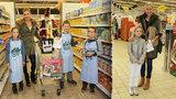 Babišová a Mátlová nakupovaly pro charitu, Paroubková nedorazila kvůli dceři