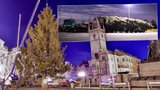 Ve stopách teroristického cíle. Kamion přivezl do Prahy vánoční strom