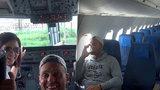 Slovák byl jediným cestujícím v prázdném letadle: Neuvěřitelný zážitek si natočil na video