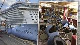 Mohl to být druhý Titanic: Výletní loď vplula do srdce hurikánu