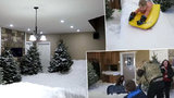 Nejbláznivější zimní nápad: Táta proměnil obývák ve sněhové království!