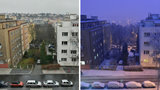 Časosběrné video: Prahu zasypal sníh, ulice byla za noc jako vyměněná