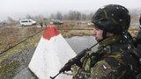 Vojáci vyrazili bránit české hranice. Protentokrát pouze cvičně