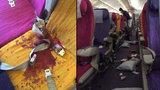 Horor v letadle: Panika, zkrvavené sedačky, 6 lidí v nemocnici. Za vše můžou turbulence