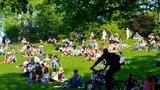 Cvičení po širým nebem: Každý pátek mají v Riegrových sadech sraz jogíni