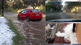Bouřka, kroupy a záplavy bičovaly Příbram. Sledujte radar, kdy to bude u vás