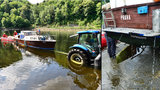 Utopená loď na Štěchovické přehradě: Nehodu způsobila upuštěná hladina řeky