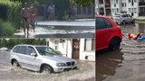 Extrémní bouřky způsobily na Slovensku lokální záplavy: V ulicích to vypadalo jak na koupališti!