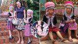 Krádež v přímém přenosu: Roztomilé holčičky v krojích obraly turistku při focení o hodinky