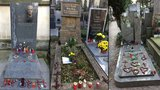 Dušičky na hrobech slavných: Lidé přinesli výkresy, srdíčka i ručně psané básně