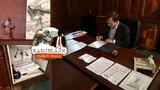 Kancelář starosty Prahy 7: Pod umyvadlem ukrývá ilegální výlep, vše hlídá anděl strážný