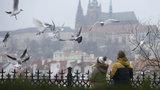 Mraky, sníh a zima: Teploty se v Praze vyšplhají v příštím týdnu jen těsně nad nulu