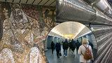 Opomíjená krása ve stanici Karlovo náměstí: 20metrová mozaika i zastrčené umění