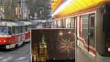 DPP kvůli novoročnímu ohňostroji posílí metro: 10 linek tramvaje změní trasu