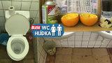 Děsivé WC v Sapě: Karton jako sušák rukou, pohyblivé prkénko a vydlabané ovoce