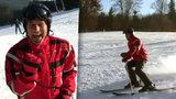 Habera přelstil lékaře: Po pěti letech se poprvé postavil na lyže!