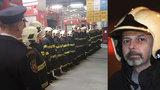Minuta ticha za pražského hasiče Honzu (†45): Kolegové uctili jeho památku po celé ČR