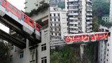 Stěžujete si na hluk z MHD? V Číně jezdí vlak přímo skrz obytný dům!