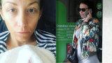 Těhotná Prachařová: Vystresovaná modelka se rozjela za svým porodníkem