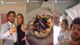 Roman Vojtek slavil 45 a prosil přítelkyni: Lásko, přeřízni mě!