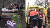 Dramatické video hasičů: Žena skočila z mostu, bezvládnou ji lovili z řeky