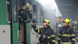 Na Masarykově nádraží vzplál vagon: Vlaky jezdily se zpožděním