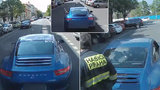 """Šílenec v Porsche """"hodil myšku"""" hasičům: Když na něj zatroubili, vybržďoval je"""