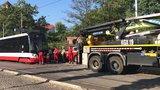 U Výstaviště v Holešovicích spadla trolej: Čtyři hodiny tudy nejezdily tramvaje