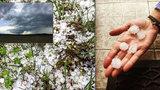 Silné bouřky, vítr a přívalové srážky zasáhly Česko. Místy padaly i kroupy